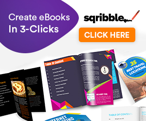 Sqribble is cloud based software for creating amazing eBooks, Reports, White Papers etc for authors and marketers.